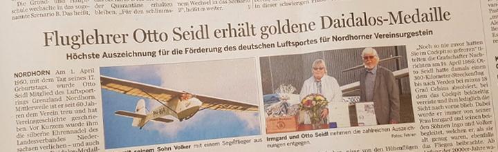Otto Seidl erhält goldene Daidalus-Medaille